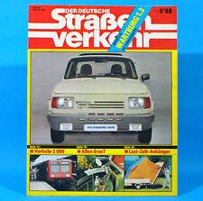 Der Deutsche Straßenverkehr 9/1988 Wartburg 1.3 Verkehrsunfall Volvo 440 Rhön M3