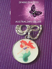 BRAND NEW 2017 DISNEYS WHITE LITTLE MERMAID WITH SILVER PLATED NECKLACE 62