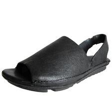 Leather Open Toe Medium (B, M) Casual Heels for Women