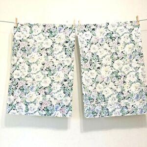 Vintage Pair (2)  Eileen West Delphinium Floral Pillowcases Standard Size 20x30