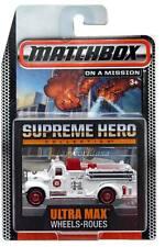 2015 Matchbox Supreme Hero Ultra Max Wheels '63 Mack B Model Fire Truck
