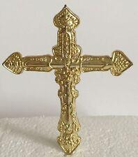 GOLD PLASTIC CROSS  Holy Communion Christening  Confirmation CAKE TOPPER PICK