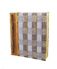"""FIBRA NATURALE & handmade paper NOTEBOOK, quadrati blu 25 x 22 cm (10x8.5 """")"""