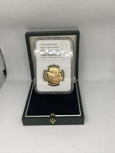 1995  Proof  Gold   £2 Double  Sovereign Dove NGC Certified PF70 Ultra Cameo