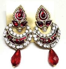 Chand Bali Jhumka jhumki Wedding Earrings Indian Gold Plated Round Bead Ball Set