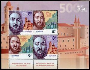 Romania Art Stamps 2020 MNH Raphael Rafaello Sanzio Renaissance Painter 4v M/S