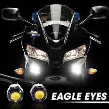 White Black Universal LED Motorcycle License Plate Stud Screw Bolt Light Lamp