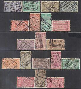 Belgium 1923-40 Parcel & Railway stamps