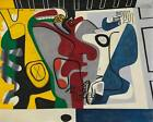 Le Corbusier Two Figures with Yellow Tree Trunk HIQU Art Print on Canvas