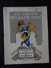 NANTES PROGRAMME REVUE DE LA CLOCHE 1963 HUMOUR BURLESQUE BOUYER MUSIC HALL