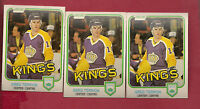 3 X 1981-82 OPC # 155 KINGS GREG THERRION ROOKIE CARD