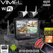 Wireless Security Cameras IP System House Home Farm Alarm Night Visio 2Cam 2TB