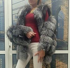 Multiway Silberfuchs Pelzjacke Pelzweste bontjas fur coat vest S 36 XS 34 M 38
