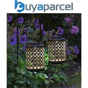 2 X Smart Garden Solaire Sheperds Crosse Riad Effet Lanterne Lumières Piquet