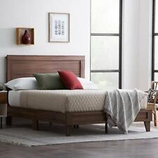 King Size Bed Frame Headboard Platform Wooden Bedroom Furniture