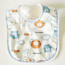 Baby Boys Girls Water-proof Bibs Newborn Cute Cotton Bib Double Layer Burp Cloth