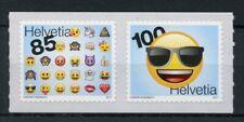 Switzerland 2017 MNH Emoji Emojis 2v S/A Set Stamps
