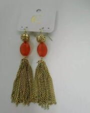 Fringe Earring (orange) Charming Charlie Gold