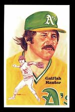 Baseball Hall of Fame postcard Perez Steele 9th Series Catfish Hunter Athletics