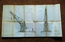 1914 Panama Canal Terminal Construction Floating Cranes Ajax Hercules Diagram
