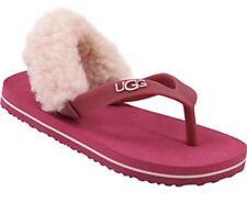 NIB UGG Yia Yia Shearling Fuchsia Flip Flops Sandals 6 -7
