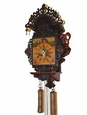 OLD DUTCH FRISIAN WALL CLOCK WITH MOON PHASE HAND PAINTED