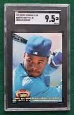 Ken Griffey Jr. baseball card SGC 9.5 Gem Mint 1992 Stadium Club MC Mariners HOF
