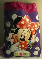 NWT Disney Minnie Mouse drawstring beach bag can hold a change of clothes shoes