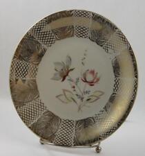 Bavaria Decorative Plate Elfenbein Porzellan Floral Design Gold Trim Design
