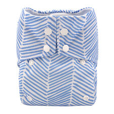 Alva Reusable Washable Baby Cloth Diaper AIO Nappy +1 Sewed in Bamboo Insert