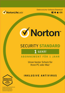 NORTON (Internet) SECURITY Standard (2021) 1-Gerät / 1-Jahr PC/Mac / KEY