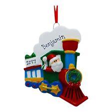 PERSONALIZED Santa Holiday Train Christmas Tree Ornament 2019 Holiday Gift