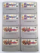 Dragon Quest V 5 VI 6 set 8 Nintendo Super Famicom SNES SFC JP Video Game 601-4