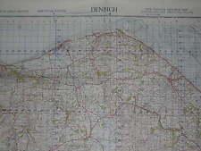 ORDNANCE SURVEY MAP 1949 WAR OFFICE EDITION. DENBIGH. SHEET 108. 1 INCH.