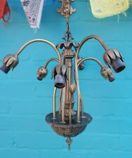Tiffany Art Nouveau  Deco Lily 6 Arm Widdop Pendant chandelier ceiling Light