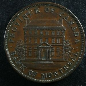 PC-2B One penny token 1842 Province of Canada Bank of Montreal Breton 526