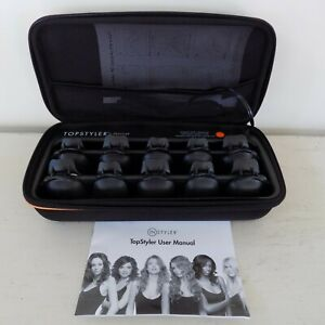 Topstyler by Instyler Heated Ceramic Styling Clam Shells Hair Curlers and Case