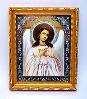Ikone Schutzengel geweiht икона Ангел хранитель освящена 20,5x17,5x1,7 cm
