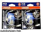 OSRAM NIGHT BREAKER UNLIMITED H3 12V 55W Set di 2+ NUOVO +110% più luminosa -