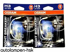 OSRAM NIGHT BREAKER UNLIMITED H3 12V 55W 2er Set +NEU +110% mehr Licht - TOP-