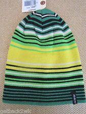 NEW BILLABONG REVERSIBLE BEANIE Cap HAT MENS S M L OSFA Yellow Stripes