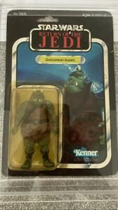 Vintage Star Wars Figure ROTJ Gamorrean Guard MOC Kenner 65 Back