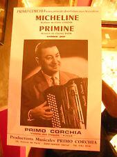 Partition Micheline Primine Primo Corchia Music Sheet