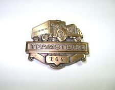 Vintage Teamsters 164 Jackson Michigan Truck Semi Driver Union Old Hat Coat Pin