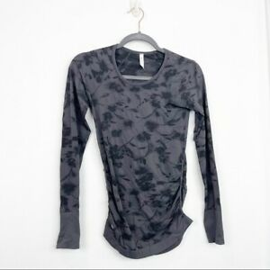 Athleta Speedlight City Bloom Top in Black Size XS Women's Athletic Fitted