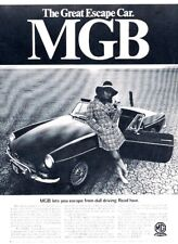 1968 Mg Mgb - Great Escape Car - Original Advertisement Print Art Car Ad H25