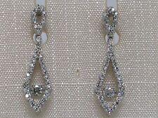 Brillant Ohrhänger 585 Weißgold 14Kt Gold dancing diamond 0,50ct Wesselton
