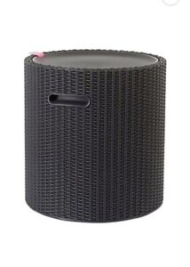 Keter Rattan Style Cool Stool Cool Bar, Anthracite Outdoor Indoor 39l Garden