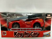 HGL Key In Car Red Racing Car Diecast Model Car 1:64 Scale Boxed Kids Toy Car