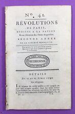 Assignat 1790 Monnaie Révolutionnaire Chartres Metz Journal Révolutions de Paris